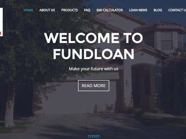 Fundloan website designing