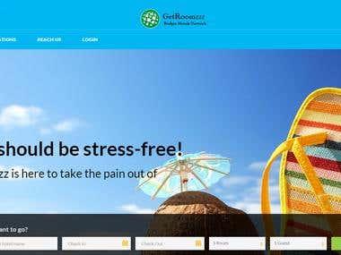 GetRoomzzz website designing