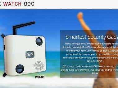 The WatchDog website design
