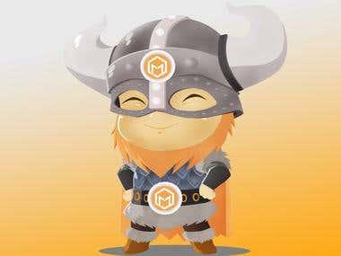mascot character design for mementor
