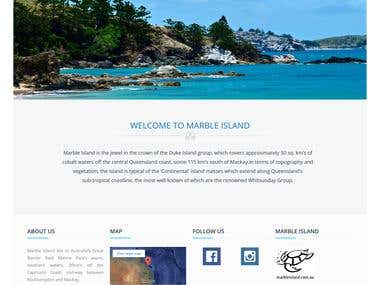 Marble Island Hotel Site in Wordpress