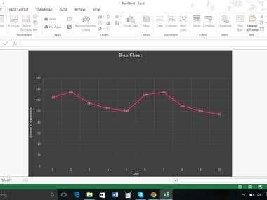 Excel Run Chart