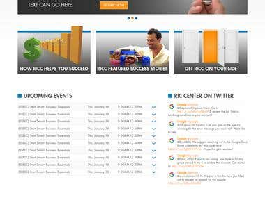 RIC Center , PSD to Joomla