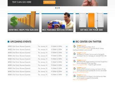 RIC Center , PSD to Joomla