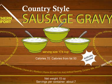 Package design for Country style Sausage can