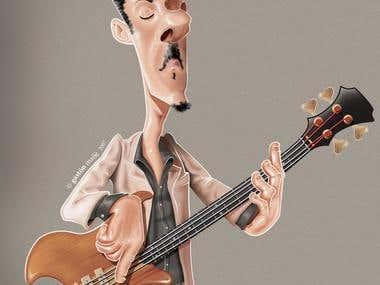 Pedro Aznar´s Caricature