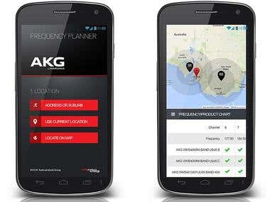 Frequency Planner Mobile Web app
