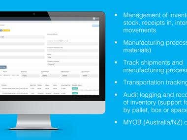 Stock and warehouse management system