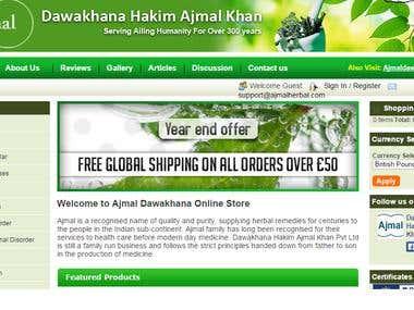 Drupal based eCommerce website