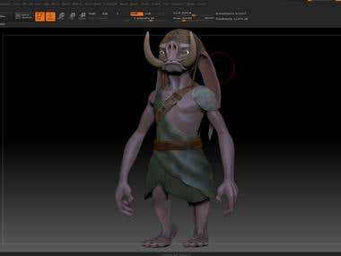 3D Character ZBrush works