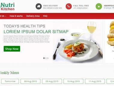 Opencart eCommerce website to order food