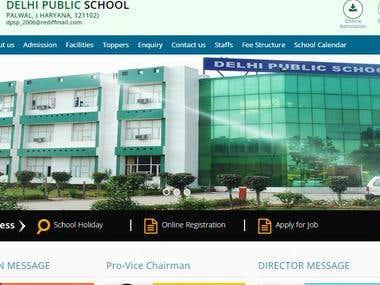 Responsive School portal