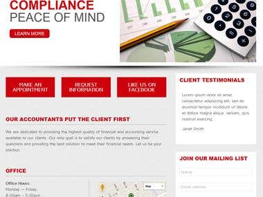 Tax Accountant Website