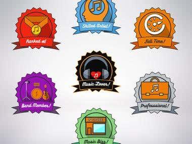 Music Web Content Project (Badges)