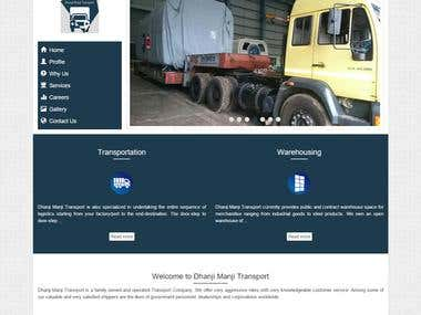 Dhanji Manji Transport, India website