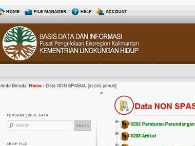 File Management PPE Kalimantan (Borneo)