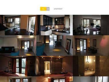 Website Design & Development for INTERIOR design firm