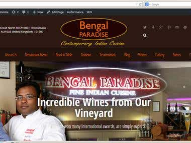 My latest WordPress Project : http://bengalparadise.co