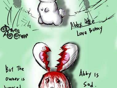 Abby the heart shape ear bunny