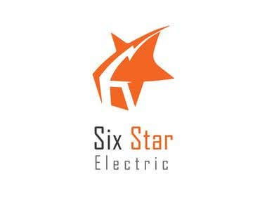 """Logo for electric company name \""""Six Star\"""""""