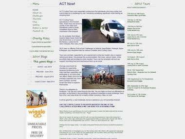 ACT Cycling tour website in Joomla