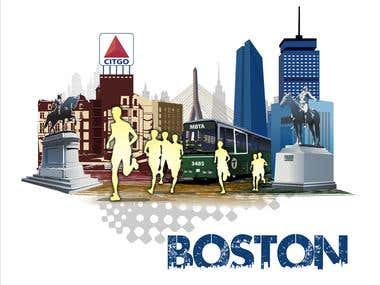 Illustration Design for Generic Runners in Boston