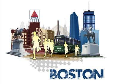 Illustration Design for Generic Runners in Boston
