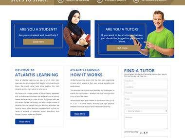 Student Tutor  Website design  and development in wordpress