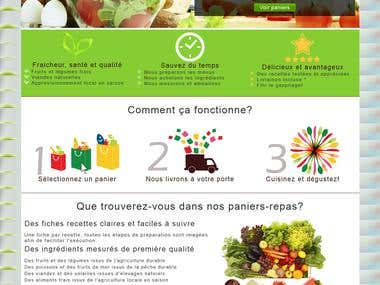 Gourmetly food store in Wordpress