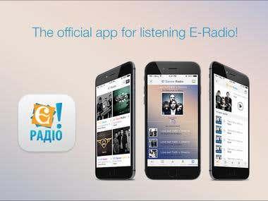 "\""E Radio"" Android mobile app"