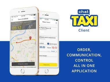 TaxiChat Client. iOS | Android mob app