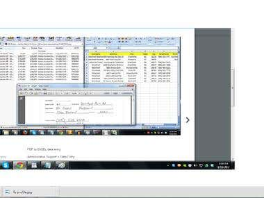 Data entry PDF to Excel