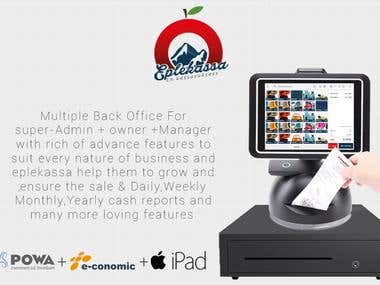 iPad POS Development with cash drawer, credit card terminal