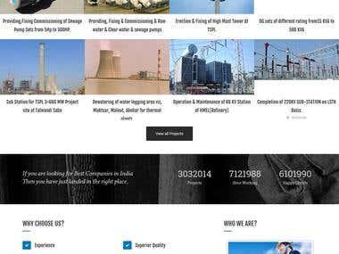 Company Website in Wordpress