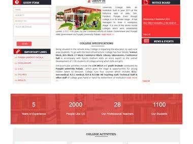 University Website - Wordpress