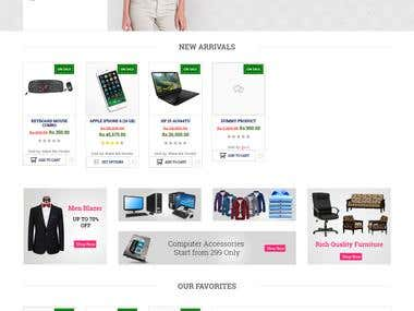 Wordpress Woo Commerce  for Shopping  Website for Company