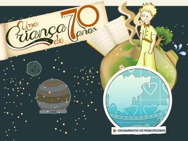 Hotsite about 70th anniversary little prince.