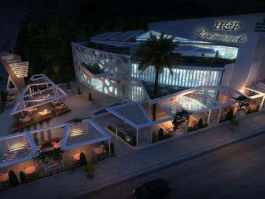 night exterior rendering