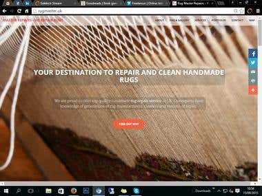 Rugmaster.uk rug repairs and cleaning service website