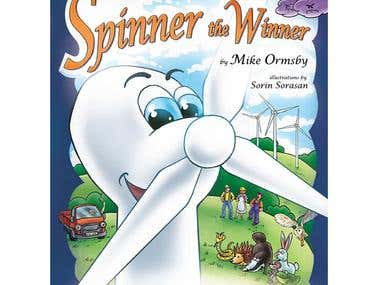 Spinner the Winner, children\'s book illustration