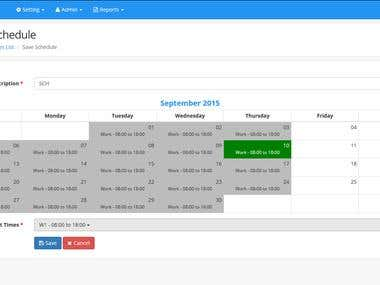 Schedular Time and Attendance Management