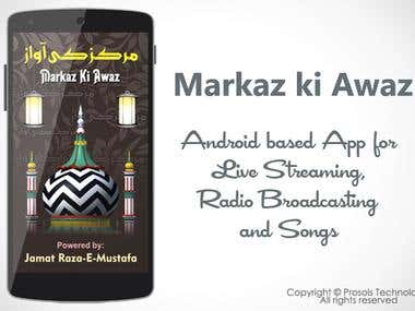 Android app for Live streaming, Radio Broadcasting and songs