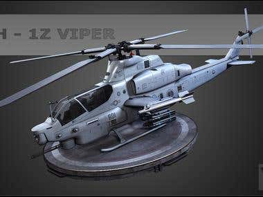 AH-1Z Viper Helicopter