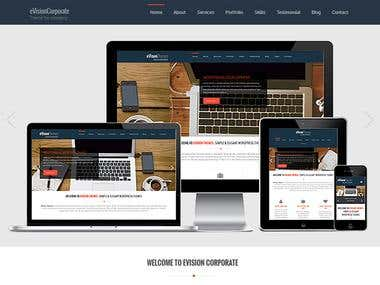 eVision Corporate: WordPress Theme Product