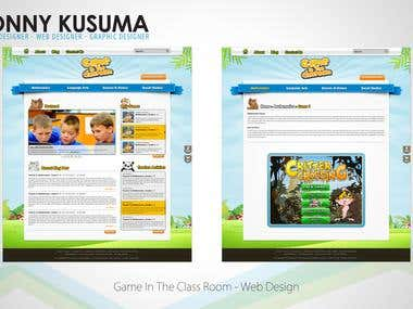 Game in The Class Room - Website Redesign