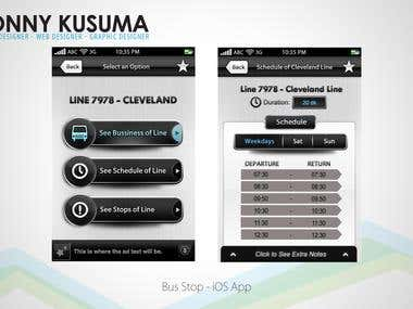 Bus Stop - iOS App Design