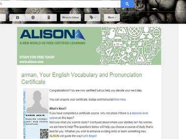 English Vocabulary and Pronunciation by Alison