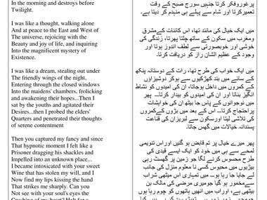 English to Urdu Translation