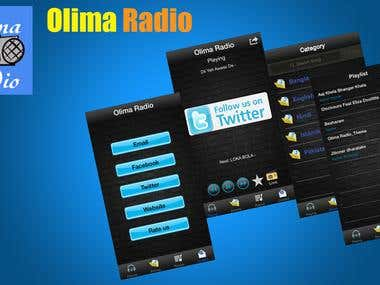 Olima Radio iOS+Android App
