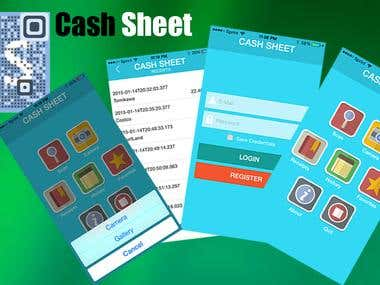 Cash Sheet iOS+Android app